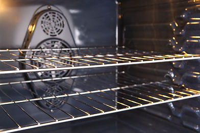 Inside a new oven