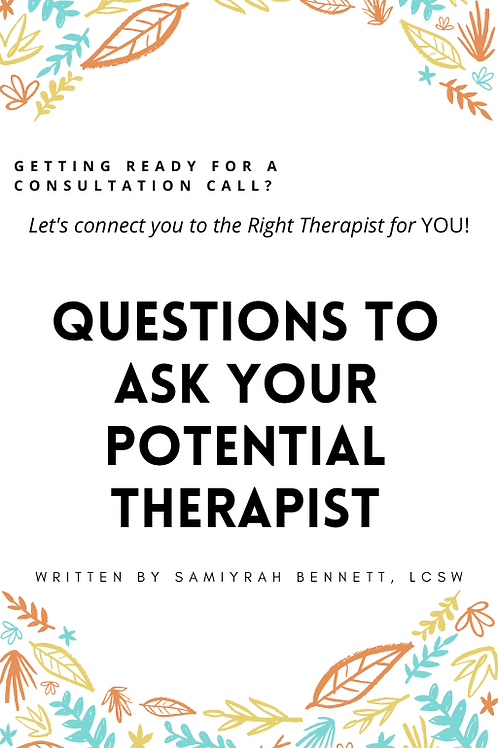 Questions to Ask Your Potential Therapist