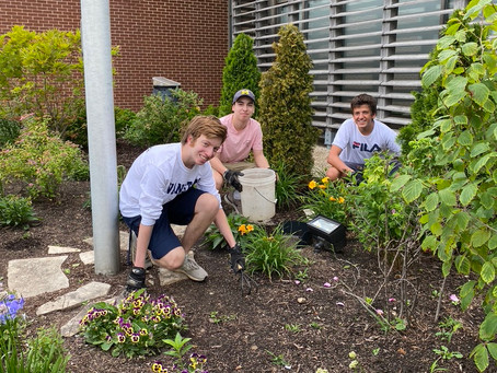 Teens Help with Virtual Bingo, Yoga and Garden Clean Up at the Levy Center