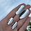 Thumbnail: Oval Mirror Earrings Big