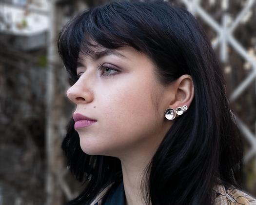 Set of 3 Cupola Earrings