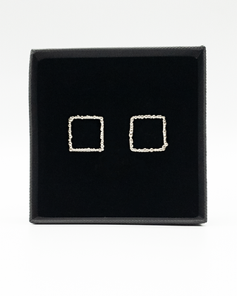 Dewy Spider Web - Square Earring