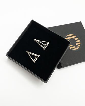 Dewy Spider Web - Pyramid Earrings