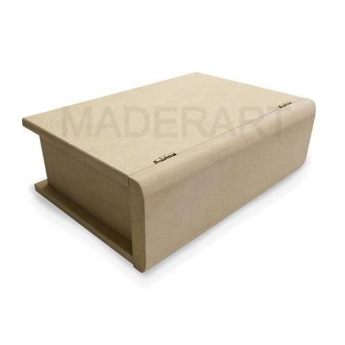 Caja de libro con bisagras