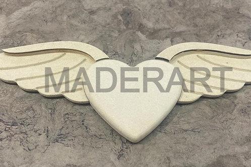 Corazón con  alas9 x 30 cm MDF 15mm