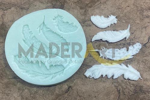 Molde Plumas 10 cm