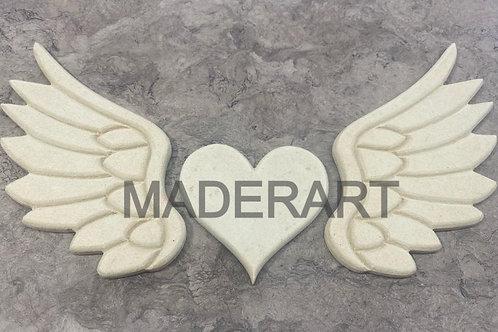 Alas y corazón 3 pzas. 12 x 50 cm
