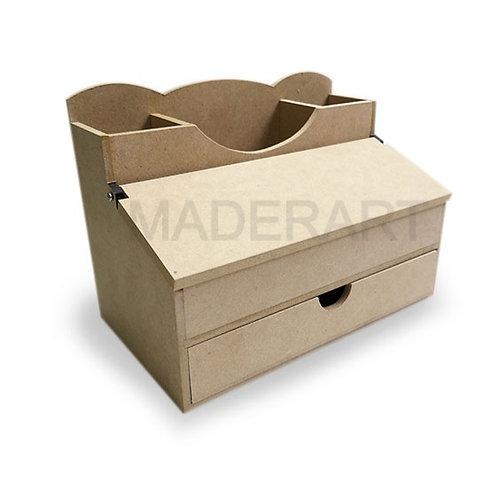 Organizador con tapa y cajón inferior