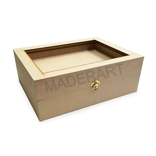 Caja para té de 12 sobres con tapa de doble fondo