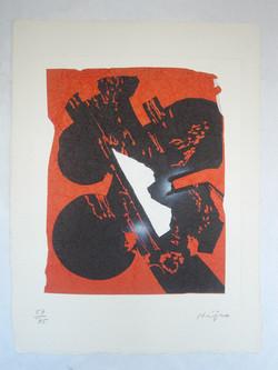 Le feu, 76 x 56 cm, 1990 #LK15
