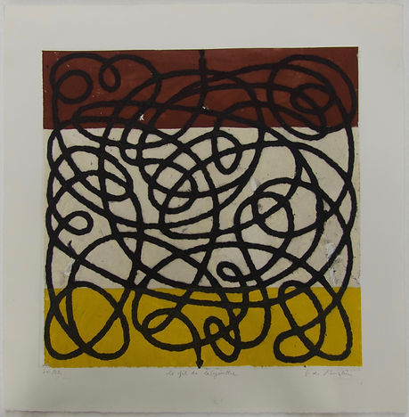 Le fil du labyrinthe B, 56 x 56 cm #FDR.