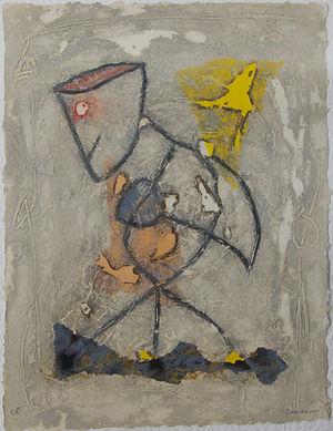 L'espiègle, 67 x 52 cm, 1987 #PMB31