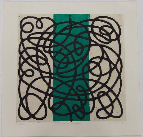Le fil du labyrinthe A, 56 x 56 cm #FDR.