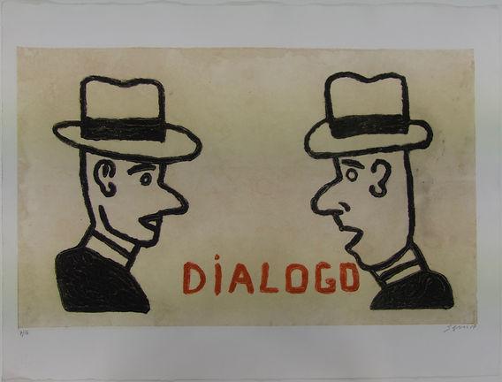 Diálogo, 57 x 75 cm, 2017 #AS116