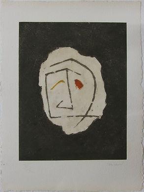 Visage fond noir, 77 x 58 cm, 1989 #PMB23