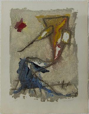 Soleil rouge, 67 x 52 cm, 1987 #PMB32