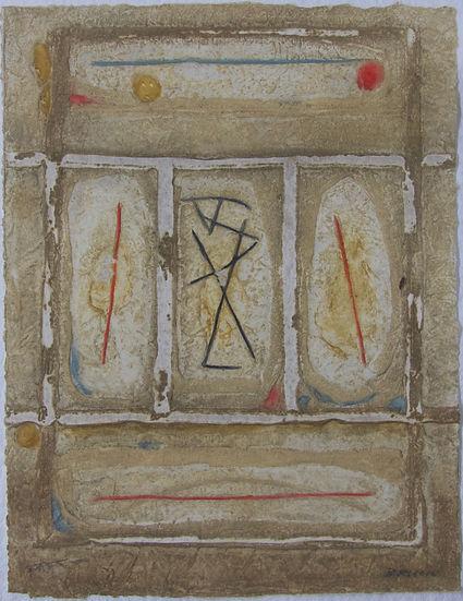 Trois hiéroglyphes, 64 x 49 cm, 1982 #PMB29