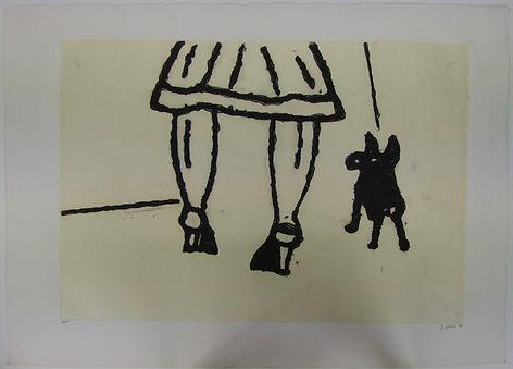 Paseando el perro, 75 x 106 cm, 2008 #AS69