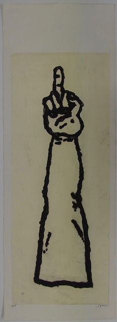 29 Le Doigt d'honneur, 106 x 37, 5 cm, 2
