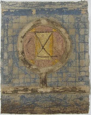Rond sur damiers, 67 x 52 cm, 1986 #PMB33