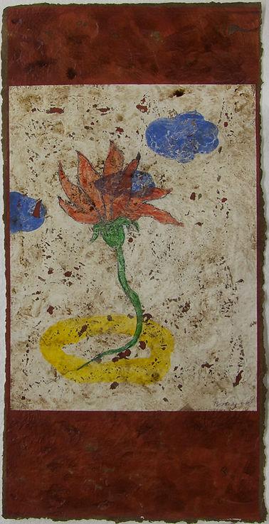 Fleur rouge, 102 x 52 cm, 2001 #PMB36