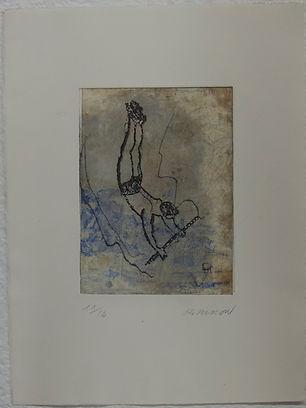 Trapéziste 2, 38 x 28 cm, 1993#PMB38