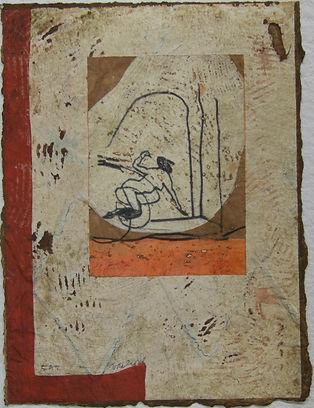Triptyque grec, 38 x 28 cm, 1989 #PMB39