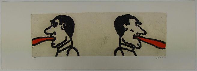 Tirando la lengua, 31 x 90 cm, 2013 #AS67