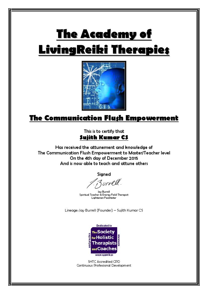 The Communication Flush Empowerment Certificate with Lineage
