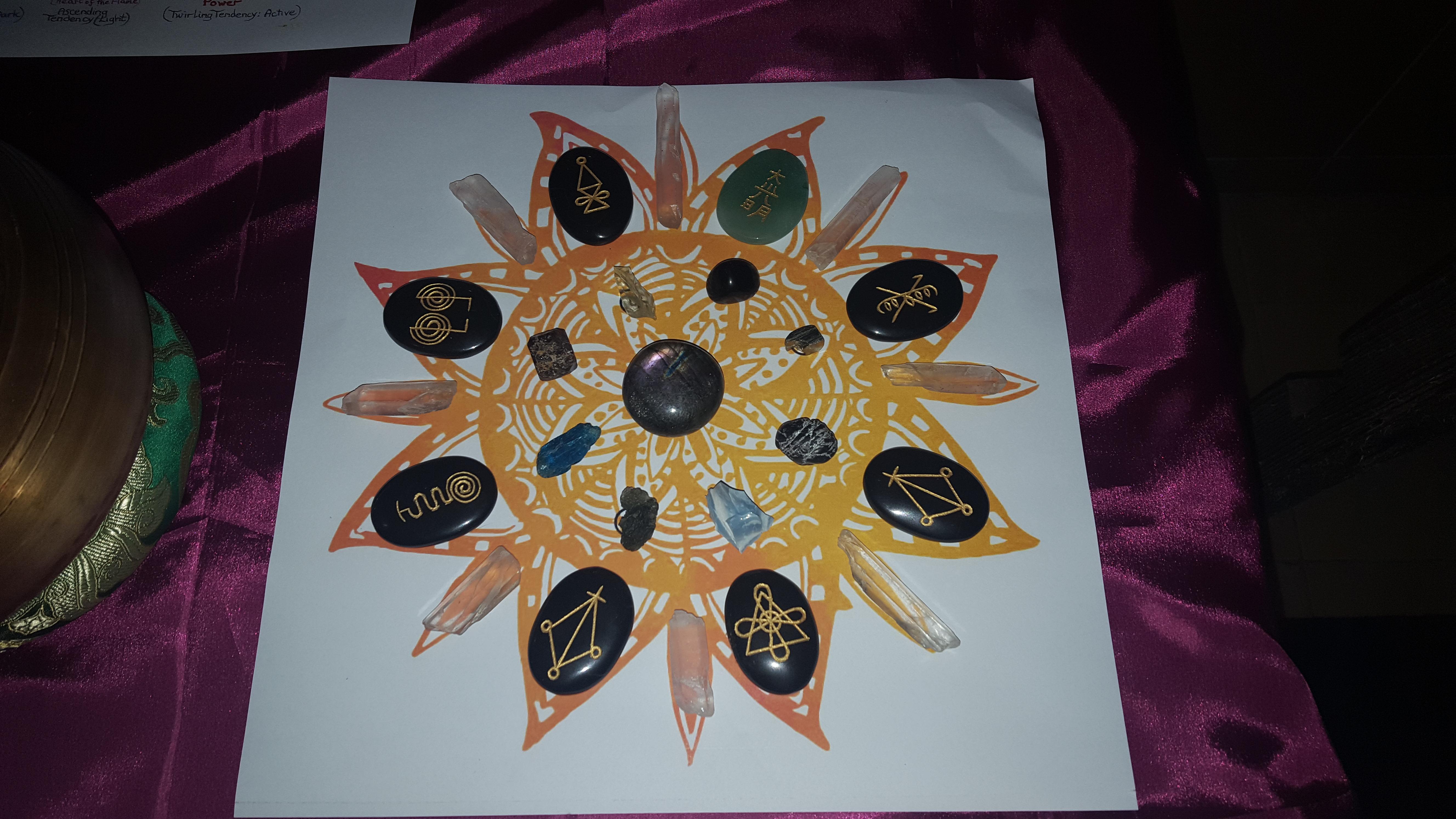 Sun Crystal Grid