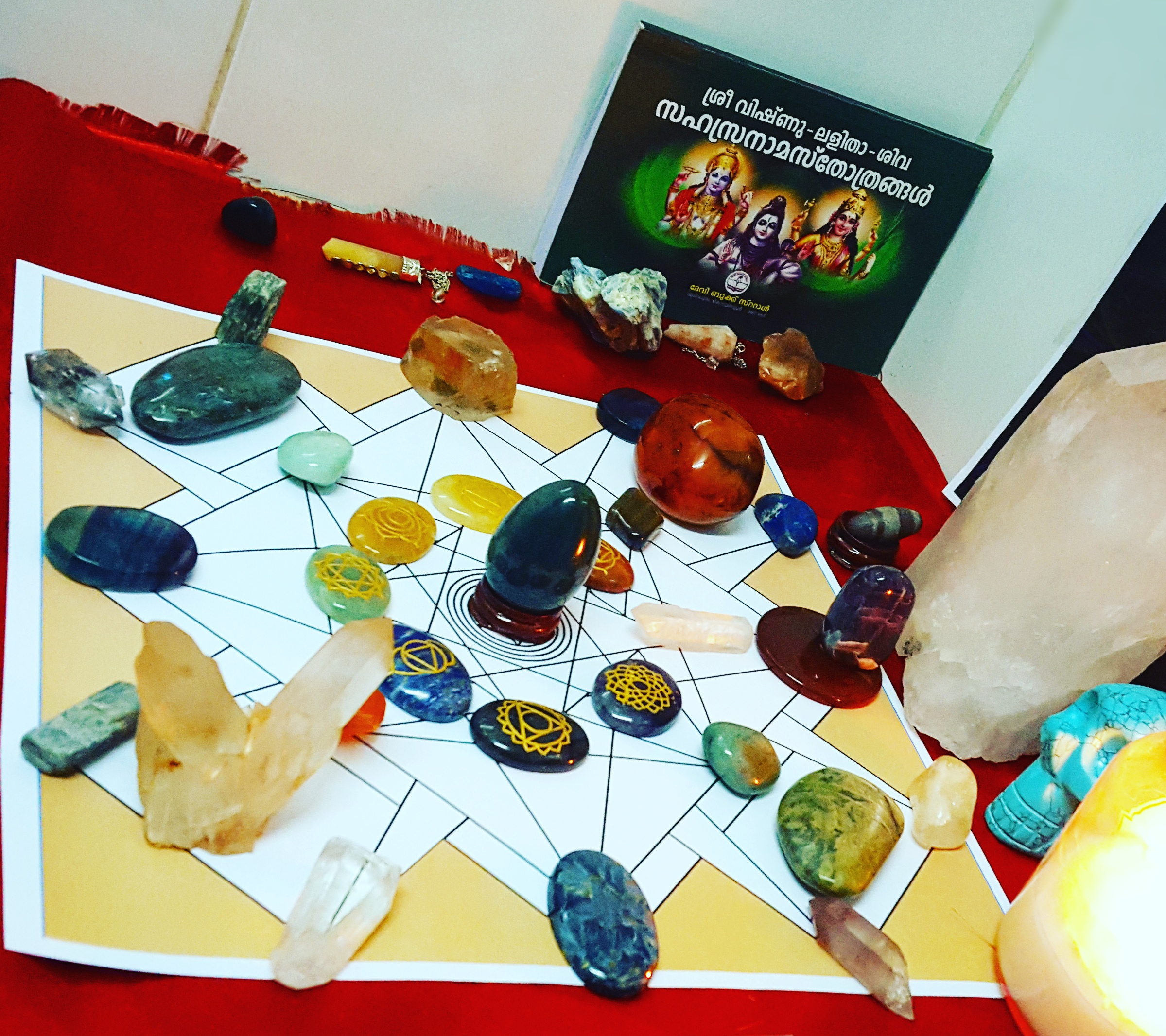 Crystal Grid for Chakra Alighnment