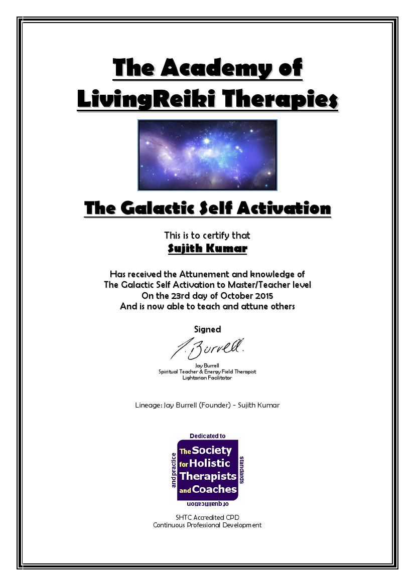 The Galactic Self Activation Certificate with Lineage