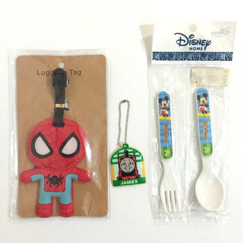 Bag Tag + Keychain + Cutlery Bundle