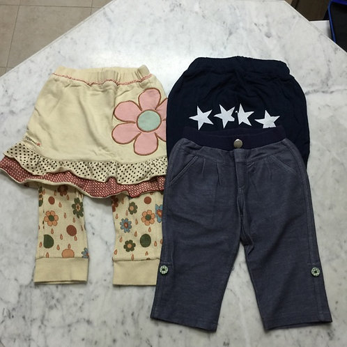 3pcs Size 1-2yr Girl Pants