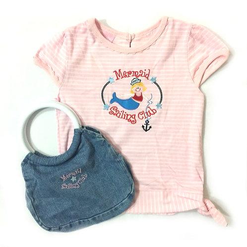 BN Size 4-5Yr Girl Tee & Bag Set