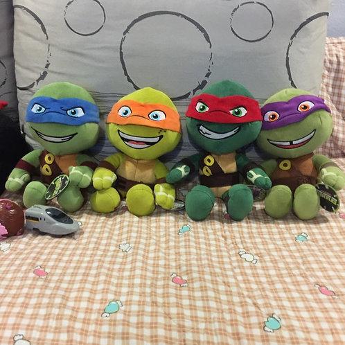 Free Delivery: BN 4pcs Ht 28cm Ninja Turtles Plush Toys