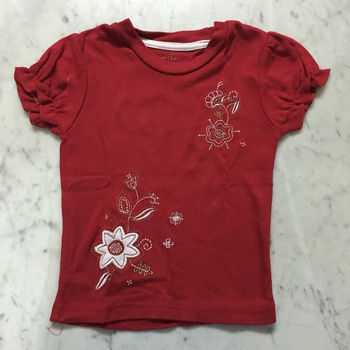 Size 6-12mth Girl Red Tee