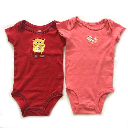 2pcs Size 0-6Mth Girl Rompers Bundle