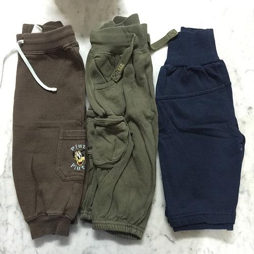 3pcs Size 6-12mth Boy Long Pants