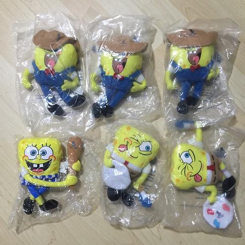 BN 6pcs Spongebob Square Pants Plush Soft Toys