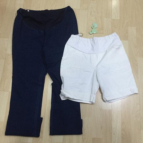 BN 2pcs M-L Maternity Jeans & Pants