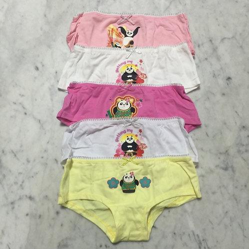 BN 5pcs Girl Panties Kungfu Panda