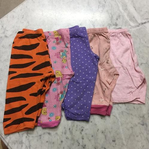 5pcs Size 1-2yr Girl Pants