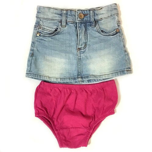 2pcs Size 2-3Yr Girl Skirt & Panties