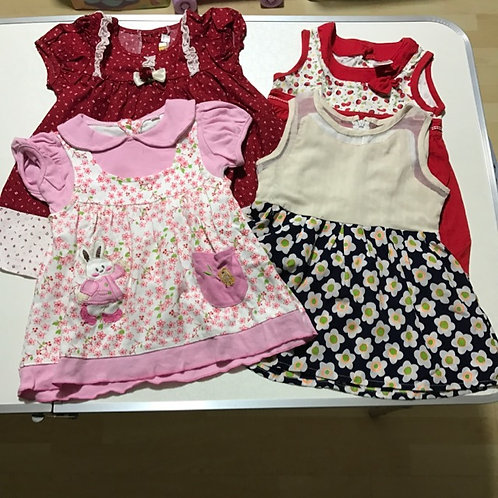 4pcs Size 1-2yr Girl Dresses