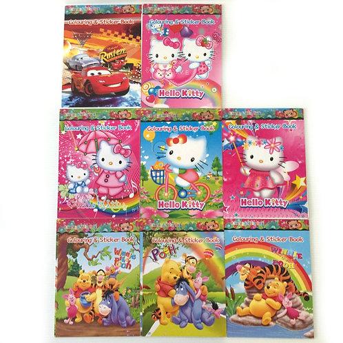8pcs Sticker & Colouring Activity Books