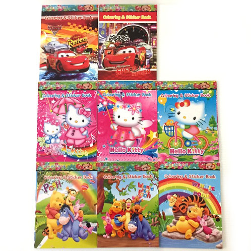 8pcs Sticker & Colouring Activity Books