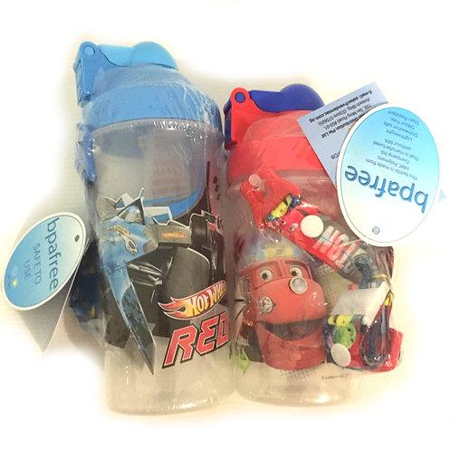 2pcs Kids Waterbottles - Chuggington & Hot Wheels