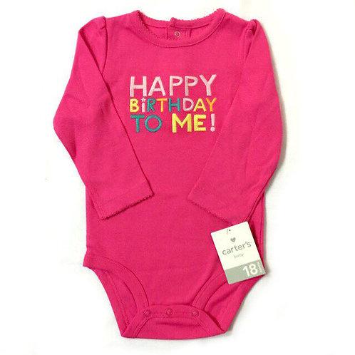 Size 1-2Yr Girl Romper Happy Birthday