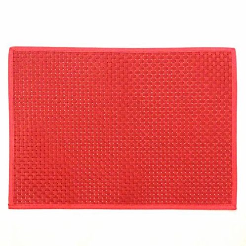 7pcs Red Plastic Placemats